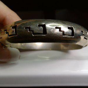 Hieroglyphic Sterling Silver Cuff Bracelet